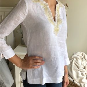 Lilly Pulitzer Tops - Lilly Pulitzer Linen Tunic